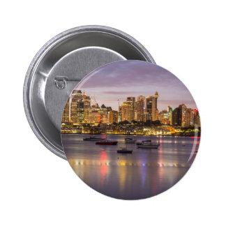 Sydney harbour, Australia Pinback Button