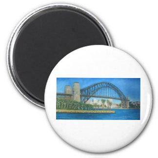 Sydney Harbour Bridge 2 Inch Round Magnet