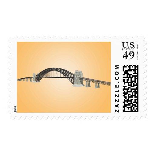 Sydney Harbour Bridge: 3D Model: Custom Postage
