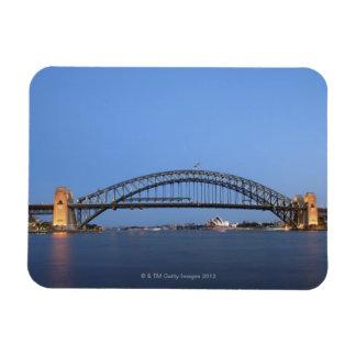 Sydney Harbour Bridge and Opera House at dusk Rectangular Photo Magnet