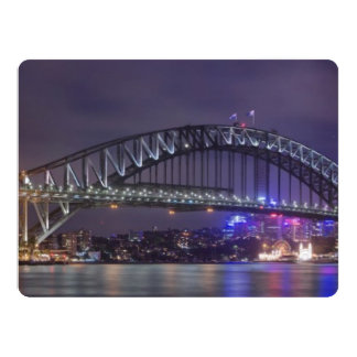 Sydney Harbour Bridge Austrailia 6.5x8.75 Paper Invitation Card