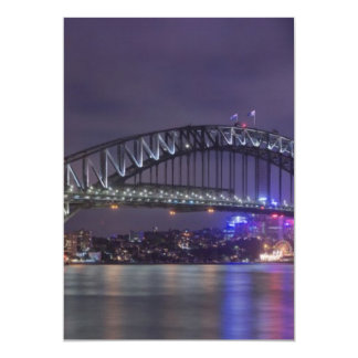 Sydney Harbour Bridge Austrailia 5x7 Paper Invitation Card