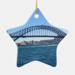 Sydney Harbour Bridge Double-Sided Star Ceramic Christmas Ornament