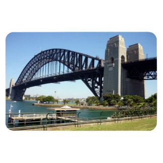 sydney harbour bridge green rectangular photo magnet