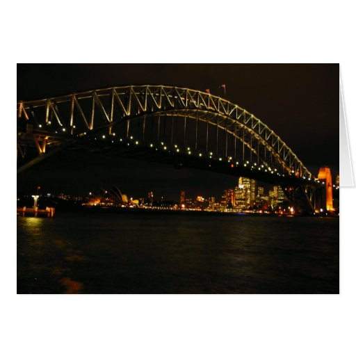 Sydney harbour bridge greeting card zazzle