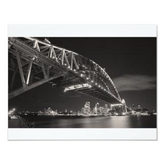 Sydney Harbour Bridge 4.25x5.5 Paper Invitation Card