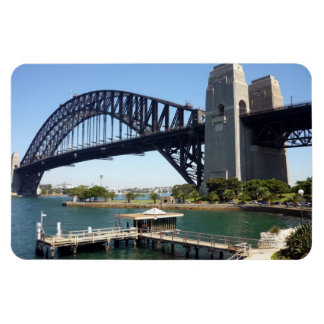 sydney harbour bridge jetty rectangular photo magnet