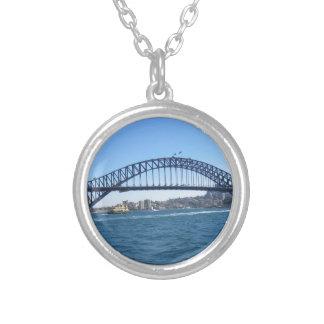 Sydney Harbour Bridge Round Pendant Necklace