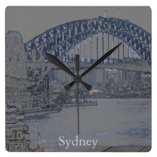 Sydney Harbour Bridge Square Wall Clock