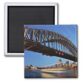 Sydney Harbour Bridge, Sydney Opera House and 2 2 Inch Square Magnet