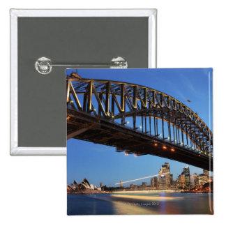 Sydney Harbour Bridge, Sydney Opera House and 2 Button