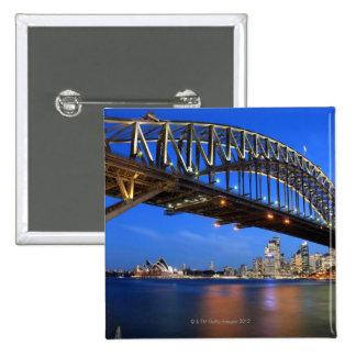 Sydney Harbour Bridge, Sydney Opera House and 2 Inch Square Button