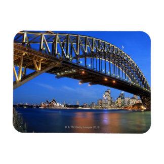 Sydney Harbour Bridge, Sydney Opera House and Rectangular Photo Magnet
