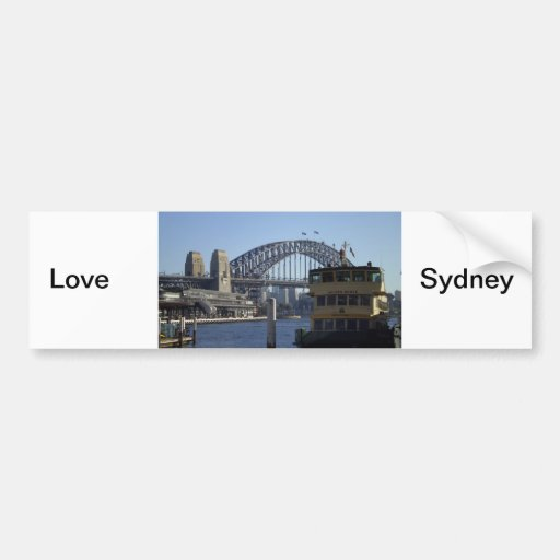 Sydney Harbour Car Bumper Sticker