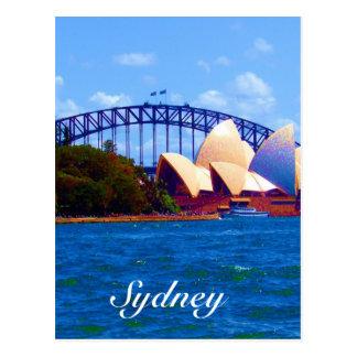 sydney harbour colours postcard