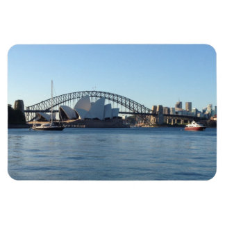 sydney harbour rectangular photo magnet