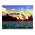 sydney harbour stylized postcard