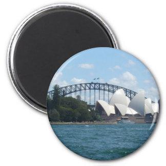 sydney hrbr 2 inch round magnet
