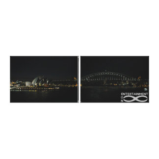 """Sydney Icons - 39"""" x 12"""" side-by-side canvas"""