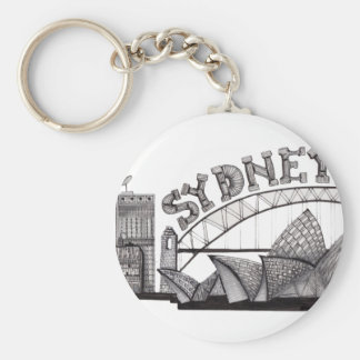 Sydney in tangles keychain
