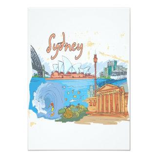 """Sydney Invitación 5"""" X 7"""""""