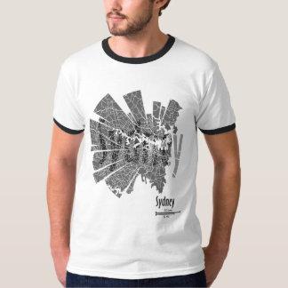 Sydney Map Ringer T-Shirt