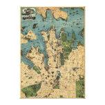 Sydney, mapa de AustraliaPanoramic Impresión En Tela