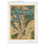 Sydney, mapa de AustraliaPanoramic Tarjeta De Felicitación