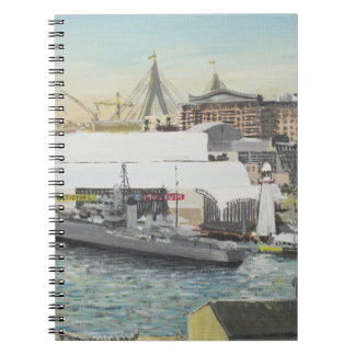Sydney Maritime Museum from Hotel Balcony. 1998 Notebook