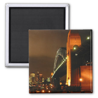 sydney night 2 inch square magnet