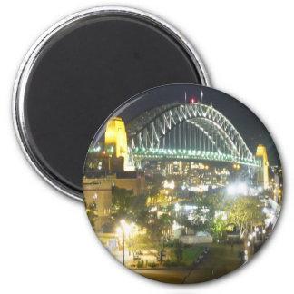 sydney night bridge 2 inch round magnet