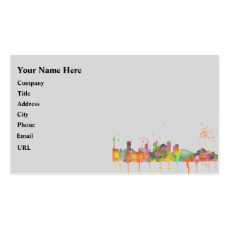 SYDNEY, NSW AUSTRALIA SKYLINE Double-Sided STANDARD BUSINESS CARDS (Pack OF 100)