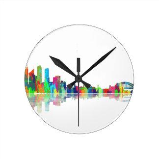 Sydney NSW Skyline Round Clock