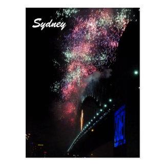 sydney nye fireworks postcard