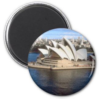 Sydney Opera House 2 Inch Round Magnet