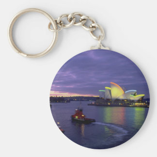 Sydney Opera House and harbor at dawn, New South W Keychains
