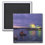 Sydney Opera House and harbor at dawn, New South W Magnet