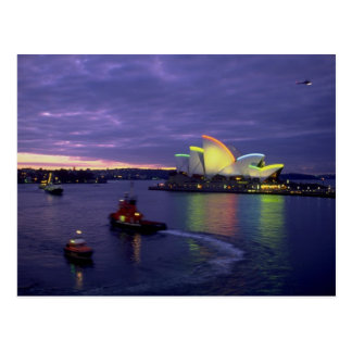 Sydney Opera House and harbor at dawn, New South W Postcard
