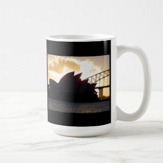 Sydney Opera House and Harbour Bridge at Dusk Classic White Coffee Mug