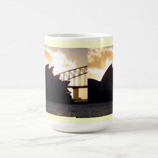 Sydney Opera House and Harbour Bridge Classic White Coffee Mug