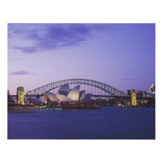 Sydney Opera House and Harbour, New South 2 Wood Wall Art