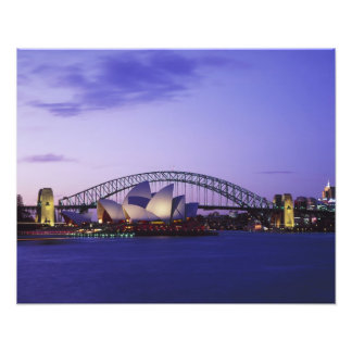 Sydney Opera House and Harbour, New South 2 Photo Print
