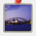 Sydney Opera House and Harbour, New South 2 Square Metal Christmas Ornament