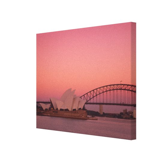 Sydney Opera House and Harbour, New South Canvas Print