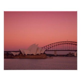 Sydney Opera House and Harbour, New South Poster