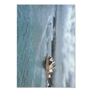 Sydney Opera house and water in front Card