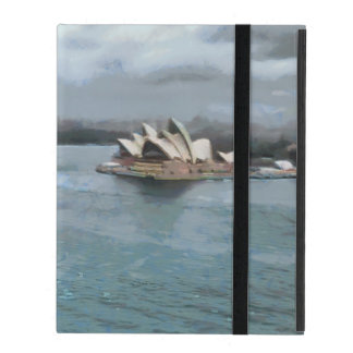Sydney Opera house and water in front iPad Folio Cases
