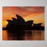 Sydney Opera House at Dawn, Sydney, New South Poster