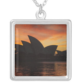 Sydney Opera House at Dawn, Sydney, New South Square Pendant Necklace