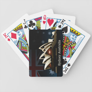 Sydney opera house at night bicycle playing cards
